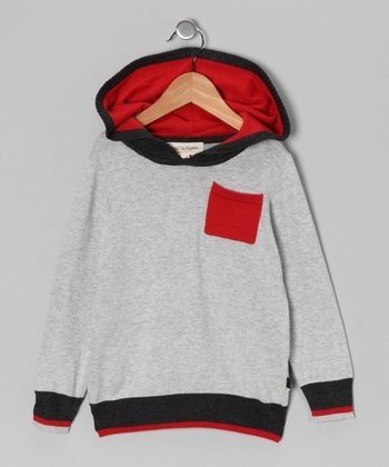 Gray & Red Hoodie - Toddler & Boys