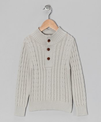 Stone Organic Cable-Knit Sweater - Toddler & Boys