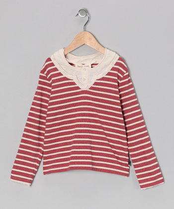Red & Vanilla Stripe Jack Shirt - Toddler & Boys