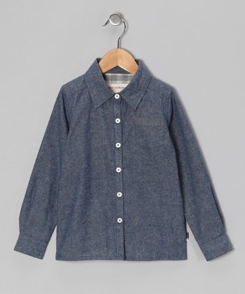 Blue Denim Lucien Button-Up - Toddler & Boys