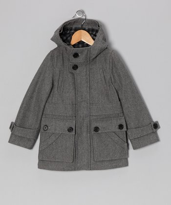 Charcoal Tugger Wool-Blend Jacket - Toddler & Boys