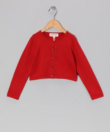 Red Suri Cardigan - Toddler & Girls