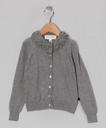 Gray Mélange Bella Cardigan - Toddler & Girls