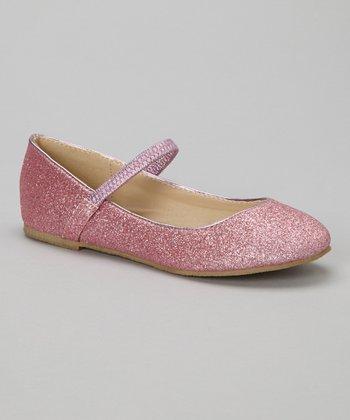 Pink Glitter Ridley Flat