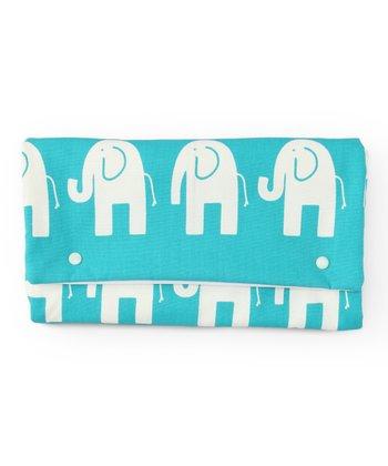 Brownie Gifts Aqua Elephant Diaper Clutch