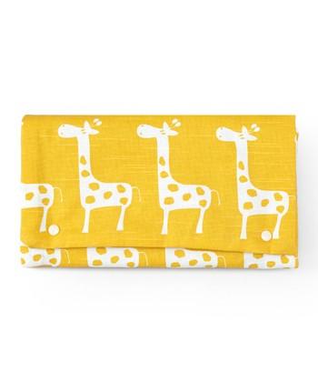 Brownie Gifts Yellow Giraffe Diaper Clutch