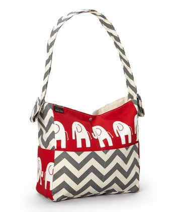 Brownie Gifts Red Elephant Diaper Bag