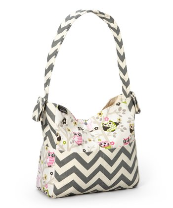 Creamy Owls Diaper Bag