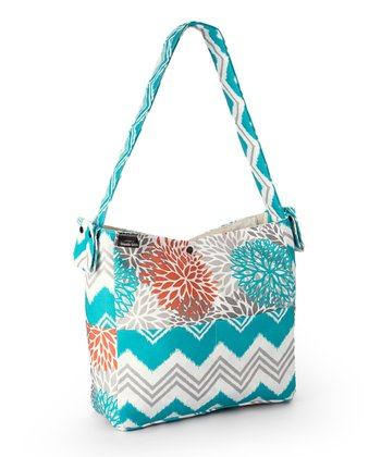 Brownie Gifts Aqua Floral Diaper Bag