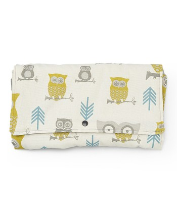 Brownie Gifts Natural & Green Owl Diaper Clutch