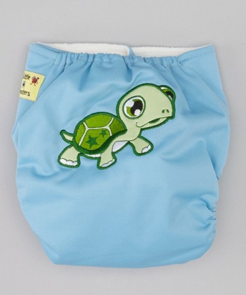 Blue Turtle Pocket Diaper