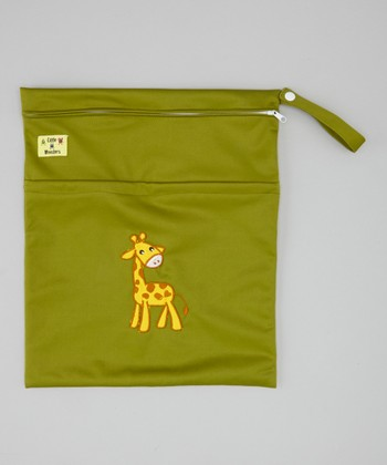 Green Giraffe Wet Bag