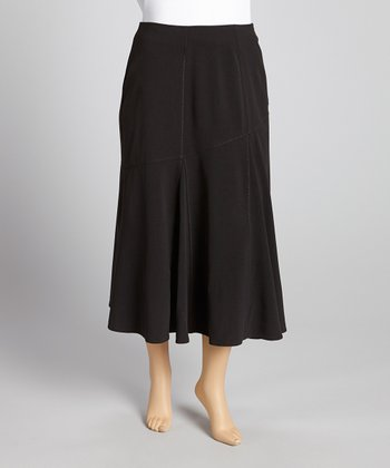 Black Pleated Skirt – Plus