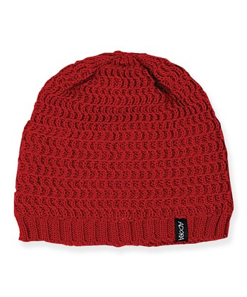 Red Wool Beanie