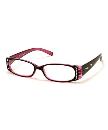 Black & Pink Cascade Reading Glasses