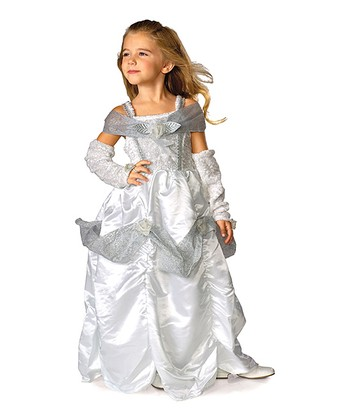 Rubie's White & Silver Snow Queen Dress-Up Set - Girls