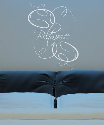 White Elegance Personalized Wall Decal
