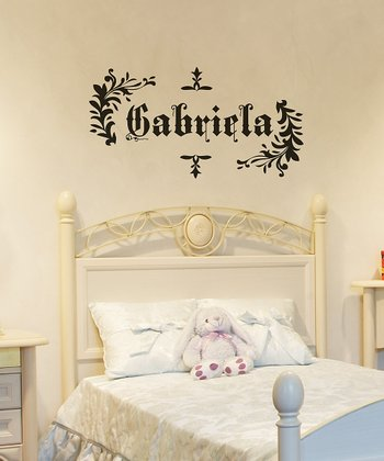 Black Saxon Personalized Wall Decal