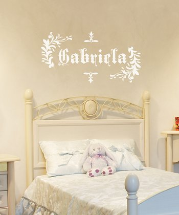 White Saxon Personalized Wall Decal