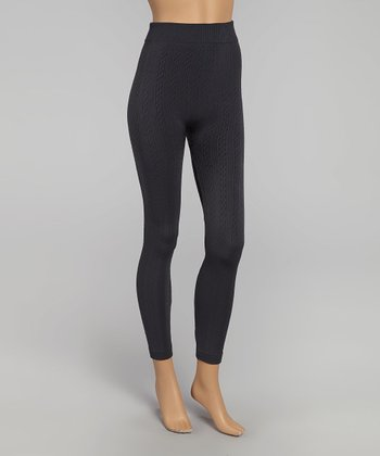 Gray Knit Leggings