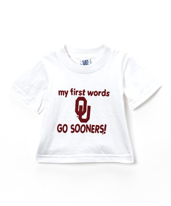 Oklahoma Sooners 'My First Words' Tee - Infant