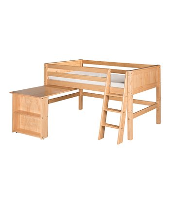 Natural Panel Low Loft Bed & Desk