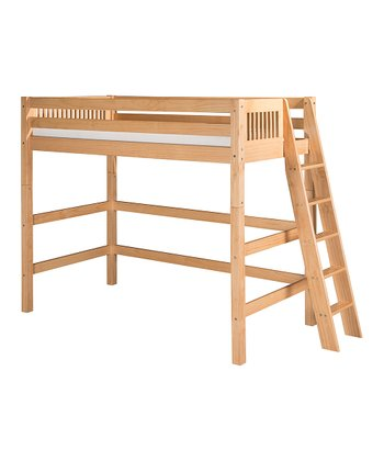 Natural Mission Lateral Ladder High Loft Bed