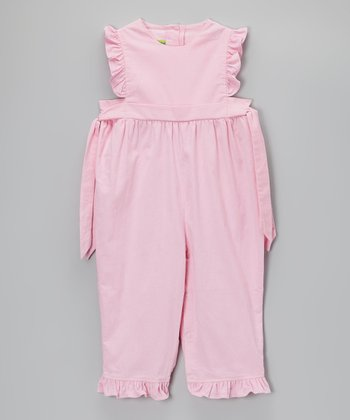 Pink Ruffle Corduroy Playsuit - Infant & Toddler