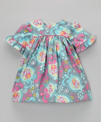 Pink & Blue Floral Claire Dress - Infant & Toddler