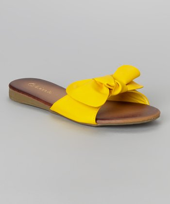 Yellow Leslie Bow Sandal