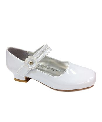 White Patent Mary Jane Pump