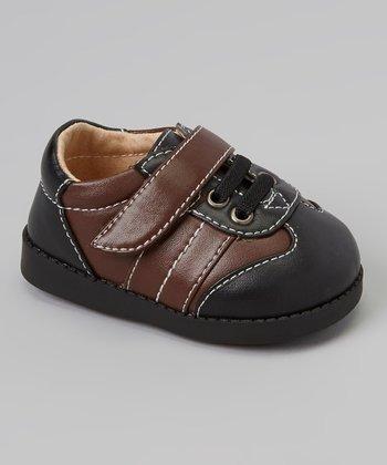 Sneak A' Roos Black & Brown Stitch Squeaker Shoe