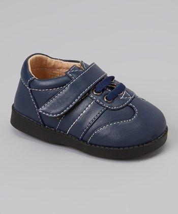 Sneak A' Roos Navy Stitch Squeaker Shoe