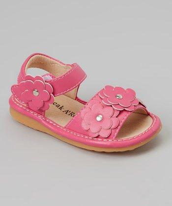 Sneak A' Roos Hot Pink Floral Squeaker Sandal