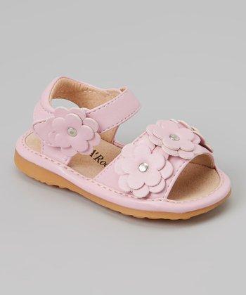 Sneak A' Roos Pink Floral Squeaker Sandal