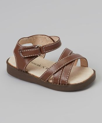 Sneak A' Roos Brown Strapped Squeaker Sandal