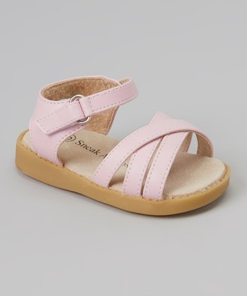 Sneak A' Roos Pink Strapped Squeaker Sandal