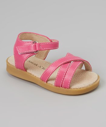 Sneak A' Roos Hot Pink Strapped Squeaker Sandal