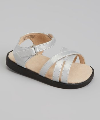 Sneak A' Roos Silver Strapped Squeaker Sandal