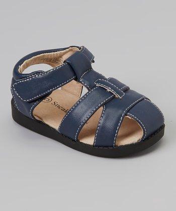 Sneak A' Roos Navy Closed-Toe Squeaker Sandal