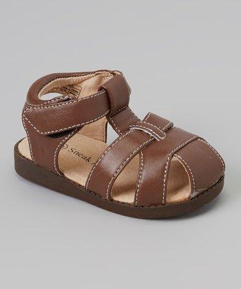 Sneak A' Roos Brown Closed-Toe Squeaker Sandal
