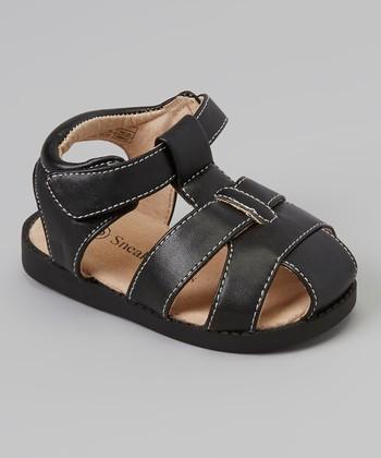 Sneak A' Roos Black Closed-Toe Squeaker Sandal