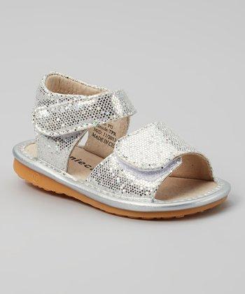 Laniecakes Silver Sparkle Squeaker Sandal