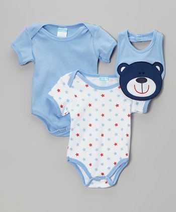 Light Blue & Star Bodysuit Set