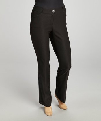 Black Millennium Basic Straight-Leg Pants - Plus