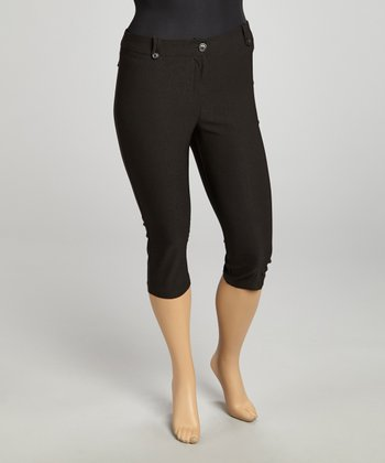 Black Millennium Cropped Pants - Plus
