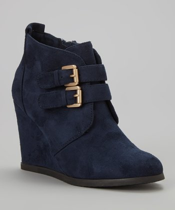 Blue Wake Up Ankle Boot