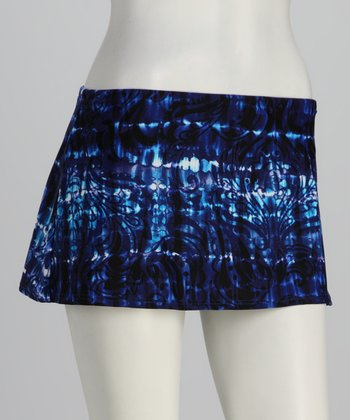 Sunsets Blue Banded Swim Skirt