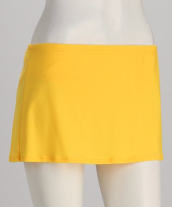 Sunsets Yellow Swim Skirt