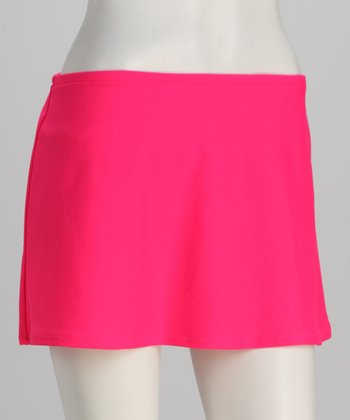 Sunsets Rose High-Waisted Swim Skirt
